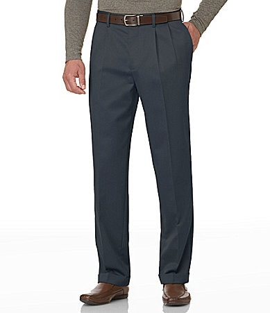 Perry Ellis Casuals Big & Tall No-Iron Gabardine Pants