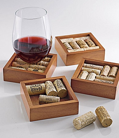 The Wine Enthusiast Wine Cork Coaster Kit