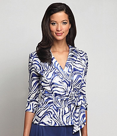 Alex Evenings Woman Printed Blouse