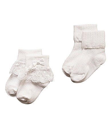 Starting Out Infant Venice Lace Socks 2-Pack
