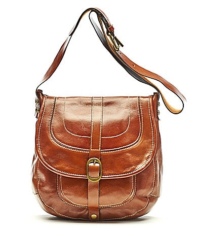 Patricia Nash Leather Barcelona Saddle Bag