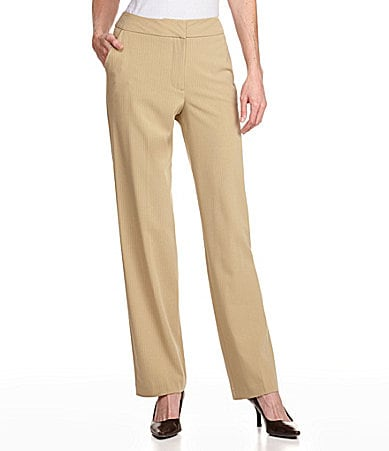 Investments Petite PARK AVE fit Patterned Straight-Leg Pants