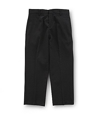 Class Club 8-20 Black Flat-Front Dress Pants