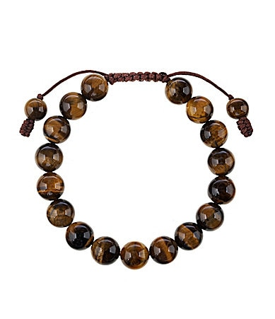 Beadology By Dillard�s Tiger�s Eye Adjustable Bracelet