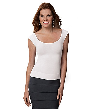 Spanx On Top and In Control Cap-Sleeve Scoopneck Shaper
