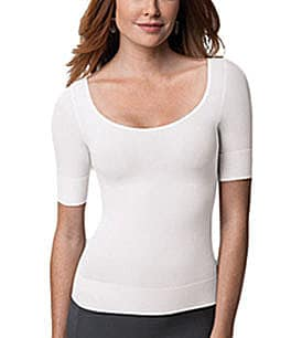 Spanx On Top and In Control 3/4-Sleeve Scoopneck Shaper