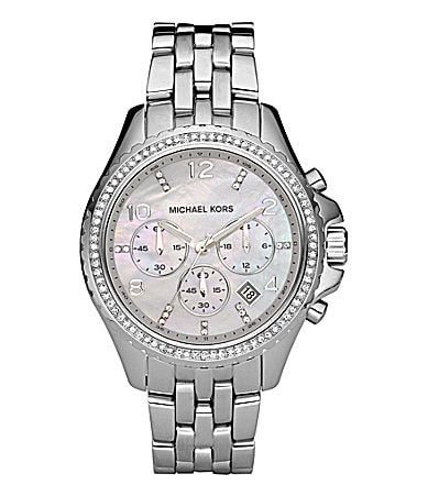 Michael Kors Mother-of-Pearl-Dial Chronongraph Watch