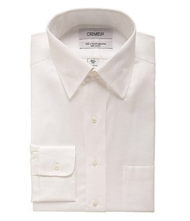 Cremieux Presidential Herringbone Dress Shirt