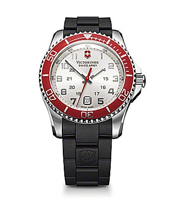 Victorinox Swiss Army Maverick Red Bezel Watch