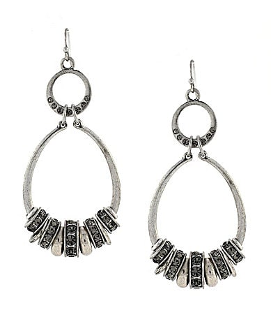 Jessica Simpson Oval Open Hoop Earrings