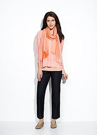 Eileen Fisher Slim Lightweight-Denim Pants