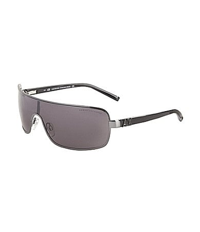 Armani Exchange Sleek Metal Shield Sunglasses