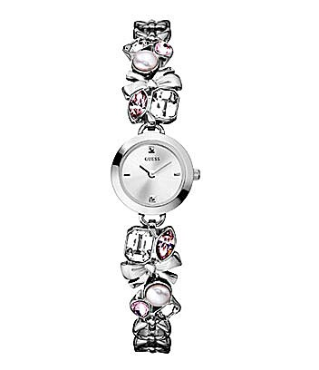 Guess Crystal-Accent Bracelet Watch
