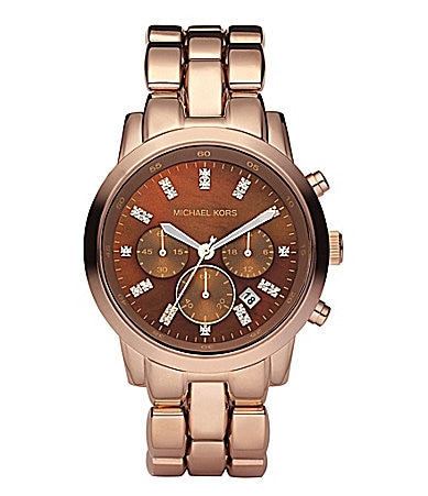 Michael Kors Women's Showstopper Shiny Rose Gold Chronograph Watch