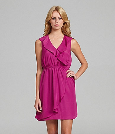 BCBGeneration Ruffle-Neck Dress