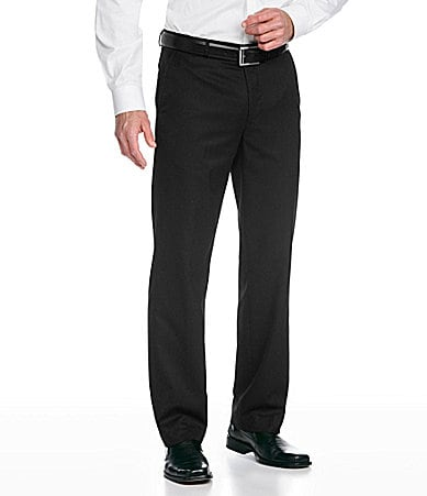 Calvin Klein Straight-Leg Microstripe Dress Pants