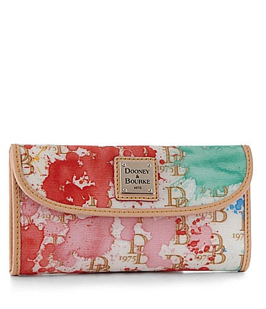 Dooney & Bourke Signature Splash Continental Clutch Wallet