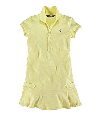 Ralph Lauren Childrenswear 7-16 Mesh Polo Dress