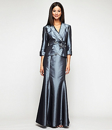 Alex Evenings Taffeta 2-Piece Skirt Set