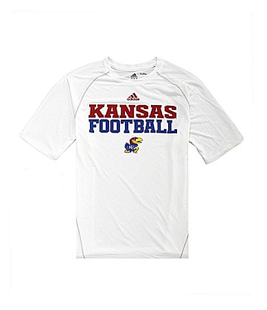 Adidas University of Kansas Sideline Climalite Tee
