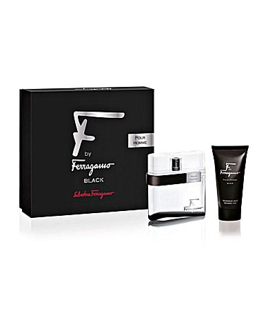 Salvatore Ferragamo F by Ferragamo Pour Homme Black Set