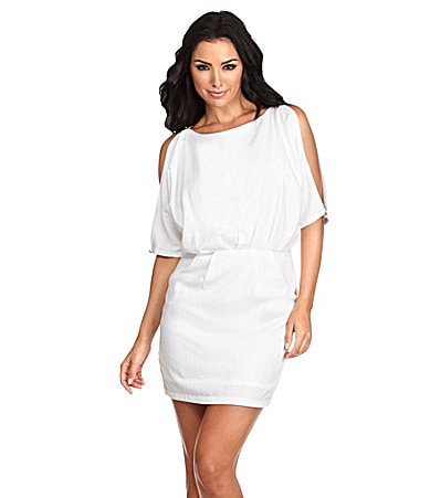 Aryn K. Cold-Shoulder Dress
