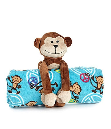 Capelli New York Plush Monkey & Cozy Throw