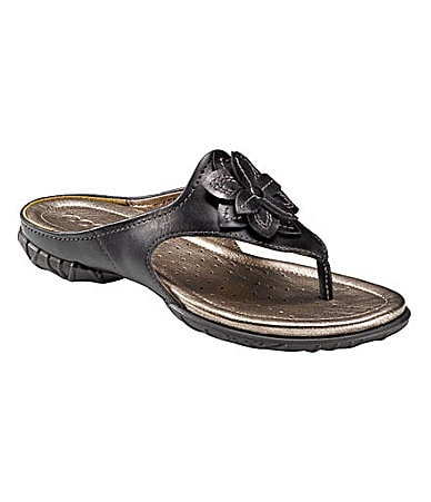 Ecco Groove Flower Thong Sandals