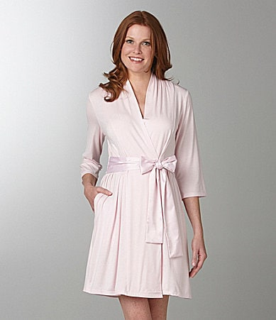 Midnight by Carole Hochman Short Wrap Robe