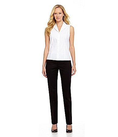 Jones New York Collection Sleeveless Easy-Care Fitted Blouse