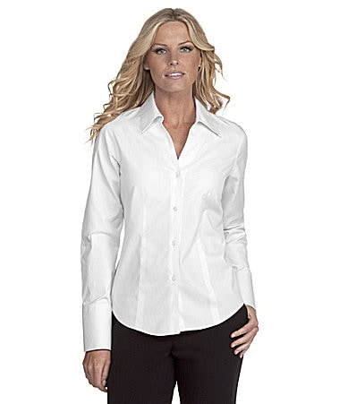 Jones New York Collection Easy-Care Button-Front Blouse