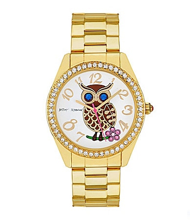 Betsey Johnson Gold Owl Watch