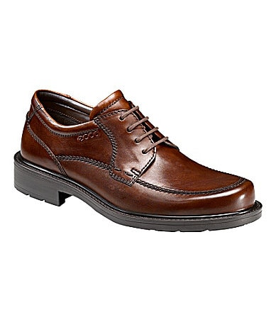 Ecco Men�s Boston Apron-Toe Oxfords