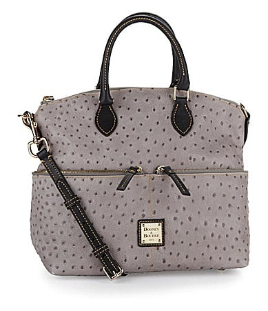 Dooney & Bourke Ostrich-Embossed Pocket Satchel