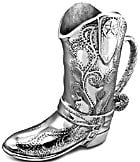 Wilton Armetale Cowboy Boot Pitcher