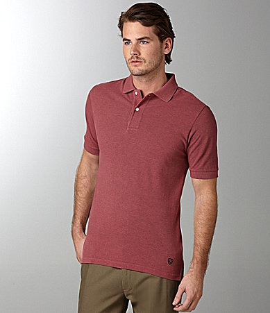 Cremieux Solid Heathered Pique Polo Shirt
