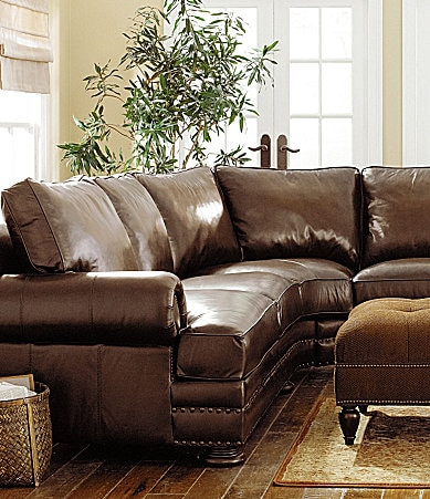 Bernhardt Seth 2-Piece Leather Sectional
