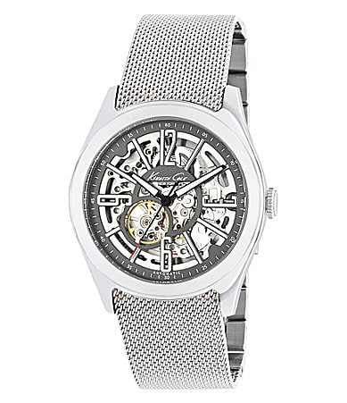 Kenneth Cole New York Grey Skeleton Watch