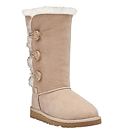 UGG Australia Girls Bailey Button Triplet Boots