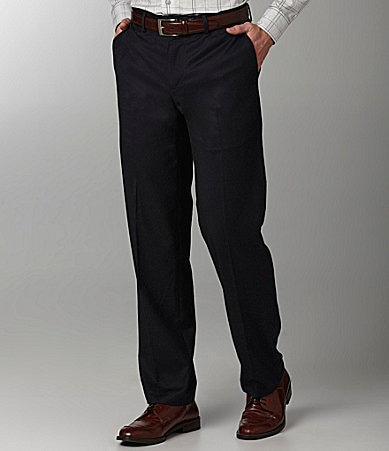 Murano Flat-Front Zac Solid Dress Pants