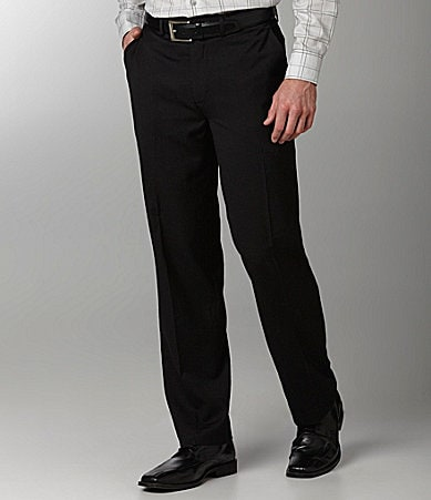 Murano Flat-Front Zac Fine Stripe Dress Pants