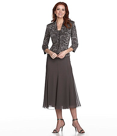 Alex Evenings Woman Jacket Dress