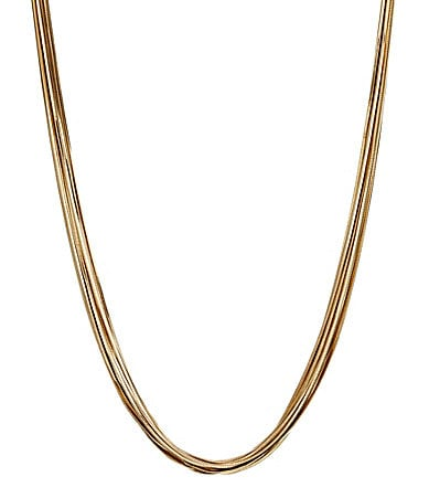 Natasha Accessories Snake Chain Metal Necklace