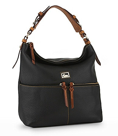 Dooney & Bourke Dillen Leather Medium Zip Pocket Hobo