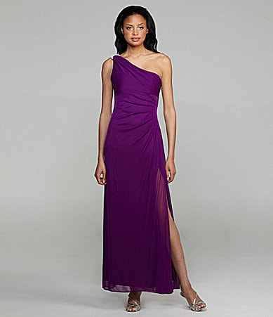 Alex Evenings One-Shoulder Gown