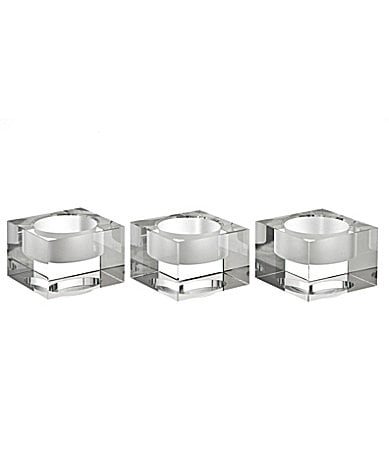 Oleg Cassini Crystal 3-Piece Stackable Votive Candleholder
