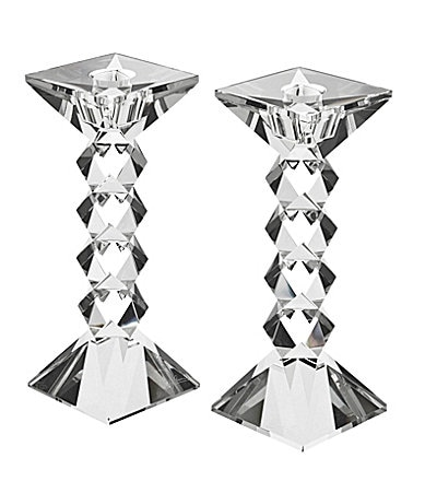 Oleg Cassini Twist Crystal Candlestick Pair