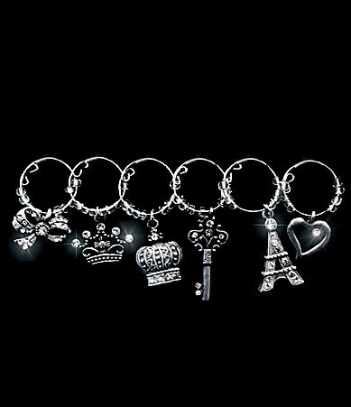 All For Giving Eiffel Tower Wine Glass Charms