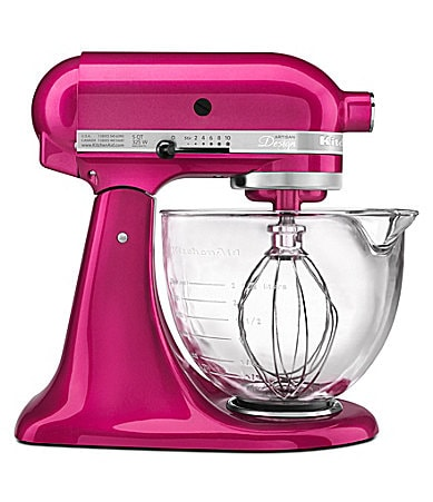 KitchenAid Artisan Raspberry 5-Quart Tilt-Head Stand Mixer