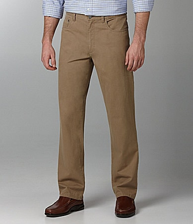 Roundtree & Yorke Straight-Fit Broken-In 5-Pocket Chinos